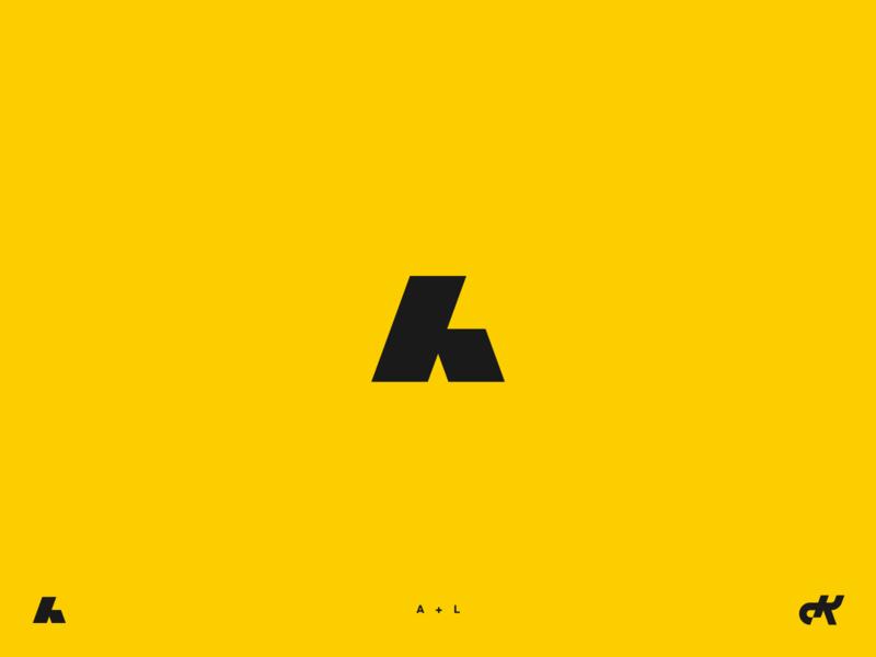 Monogram l a al simple logo designer logo identity letter mark monogram logo monogram