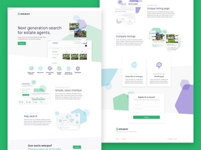 Emlakim Landing Page ui uidesign search website user interface web design estate agents estate agent