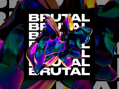 BRUTAL gradient brutalist abstract 3d c4d