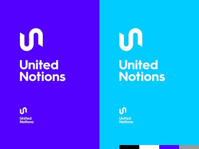 United Notions un u n logo design monogram branding identity logo