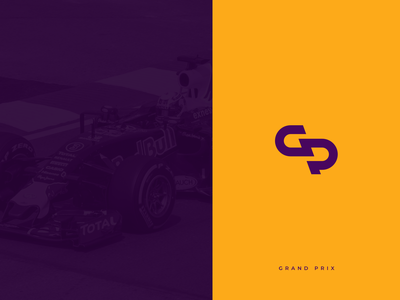 GP branding identity logo grand prix gp racing monogram