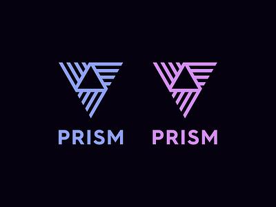 PRISM triangle prism branding identity logo