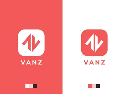 V A N Z monogram branding identity logo