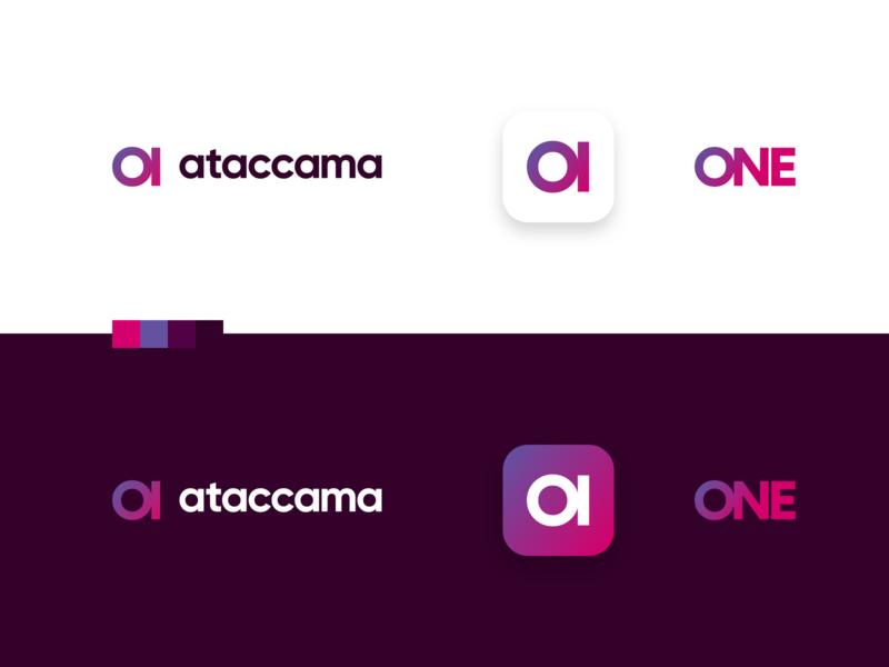 ataccama letter a a monogram platform product data analysis branding rebrand identity binary gradient logo design logo ai data ataccama