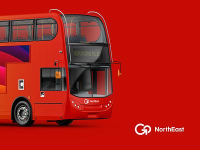 If I designed! bus branding transporation transport vehicle identity monogram logo