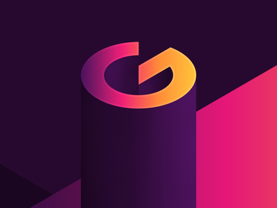 G letter g g bright gradient isometric abstract art typography 36 days of type 36days-g 36daysoftype-g 36daysoftype