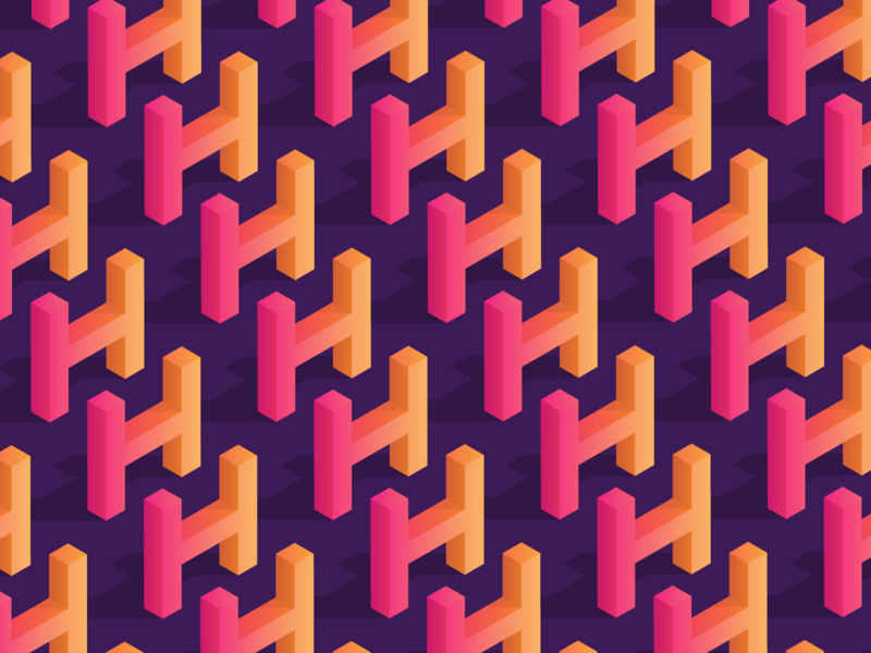 H h letter h isometric gradient typography 36 days of type 36daysoftype-h 36days-h 36dayoftype