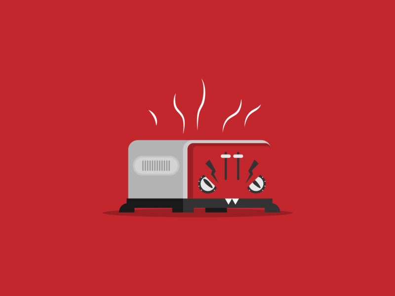 Angry f'ing toaster vector kitchen appliance illustration