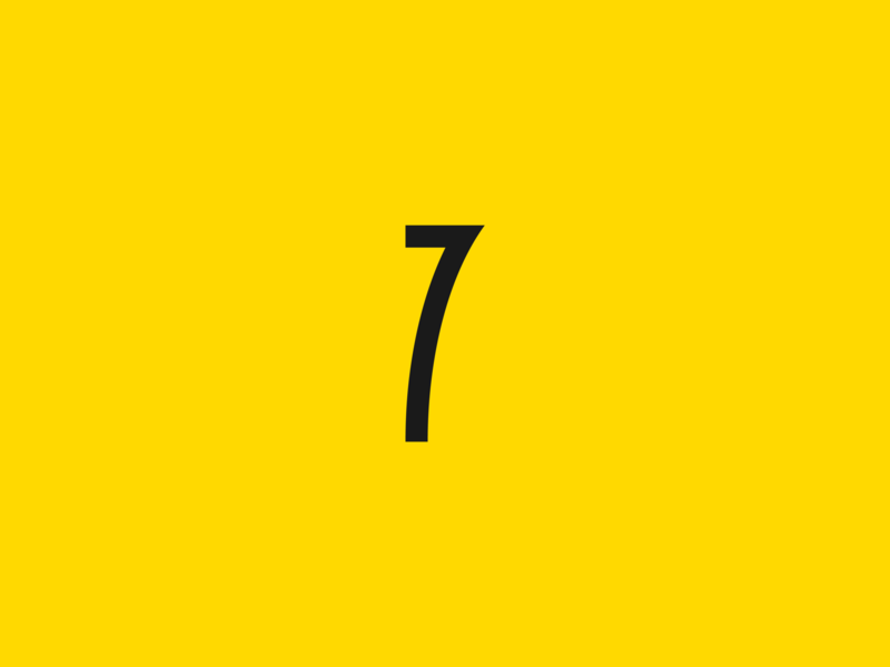 7 number 7 7 typography seven 36days-7 36 days of type lettering 36 days of type