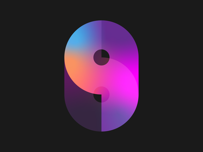 9 typography gradient number 9 9 nine geometric 36 days of type lettering 36 days of type