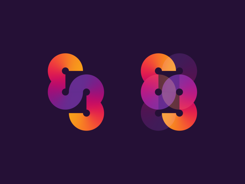 83 - 69 geometric 83 gradient typography numbers