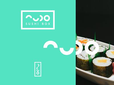 nudo sushi logo takeaway takeout food nudo fish type system sushi identity branding