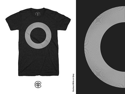 Nucleus White on Grey cotton bureau t-shirt design graphic design design nucleus tshirt apparel