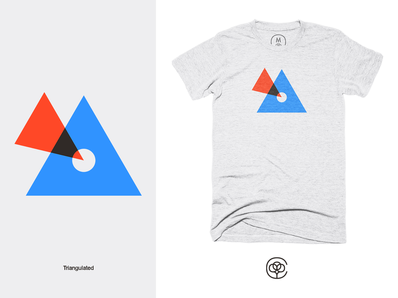 Triangulated tshirt design tshirt apparel design geometric apparel