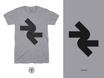 Confused T-Shirt t-shirt design tshirt design tshirt cotton bureau cottonbureau arrows minimalistic minimal geometric simple apparel design apparel