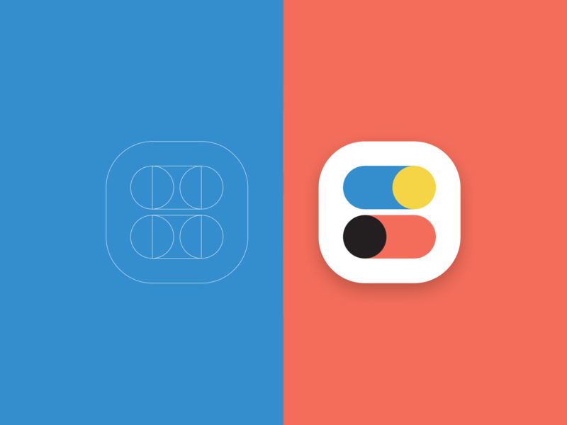 Colour and composition geometric simple app icon icon