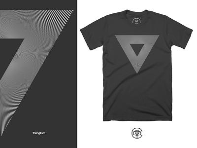 Trianglism minimalistic cotton bureau nucleus apparel design tshirt design tshirt apparel