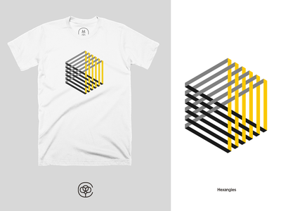 Hexangle T-Shirt hexagon cotton bureau geometric tshirt design tshirt apparel design apparel