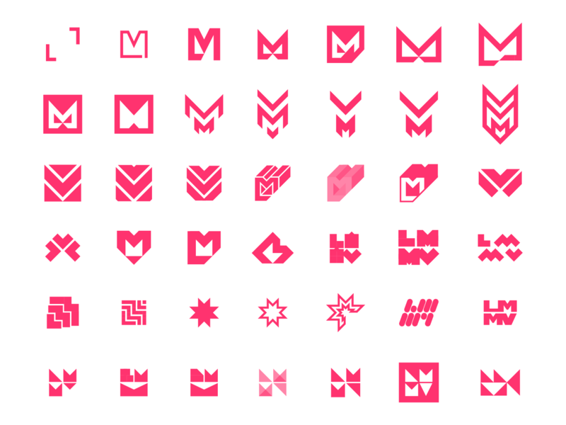 LMMV Concepts branding design film like minded media ventures lmmv monogram identity logo design logo branding