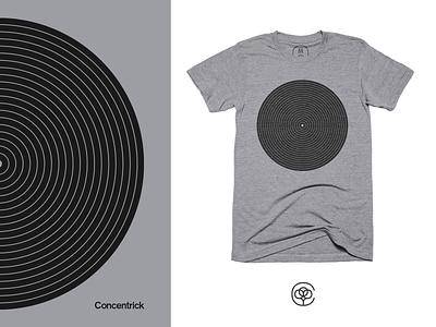 Concentrick geometric geometry cotton bureau concentric apparel design tshirt design tshirt apparel