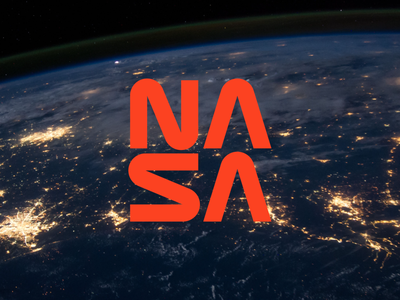 NASA Revision type space nasa identity branding logo