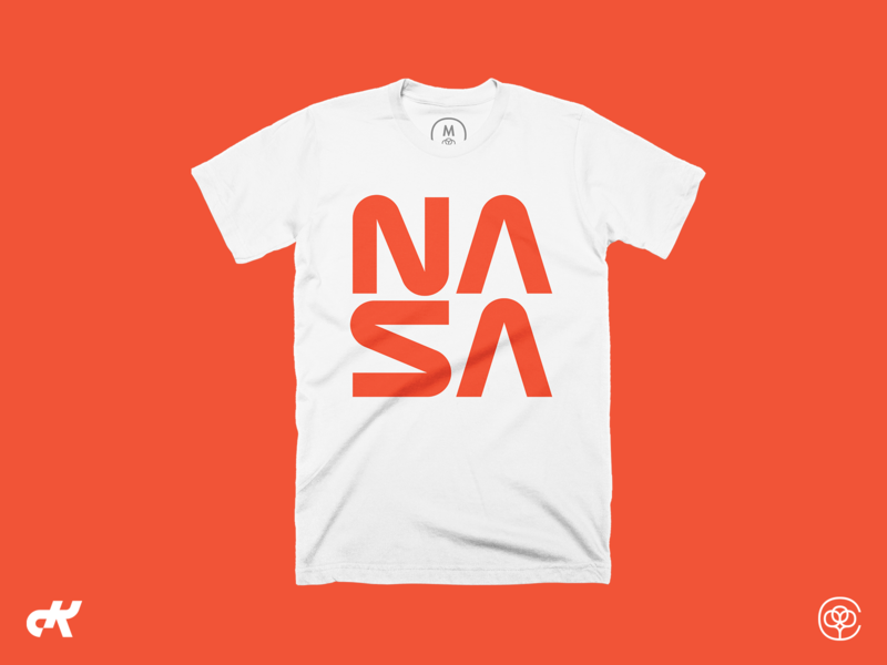 NASA T-shirt nasa worm tshirt design tshirt cotton bureau swag logo nasa apparel
