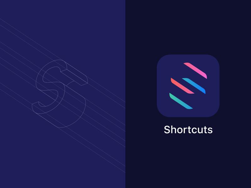 Refined Shortcuts Icon ios gradient s logo branding iconography icon design shortcuts app icon icon apple