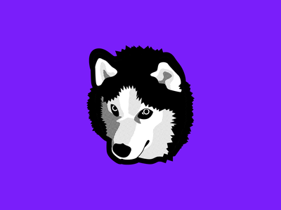 HUSKY doggie illustration halftone vector inktober2019 inktober vectober husky dog doggy doggo