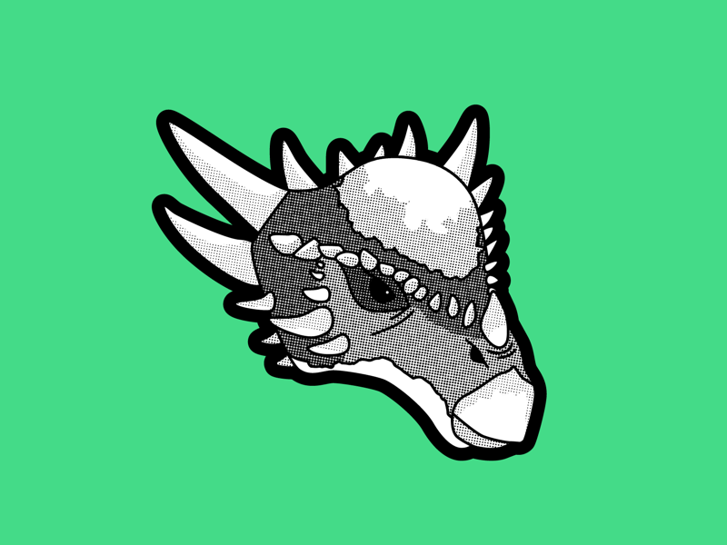 Enchanted illustration vector vectober stygimoloch dinosaur inktober2019 inktober