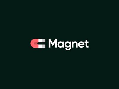 Magnet logo design magnet attraction branding identity logo