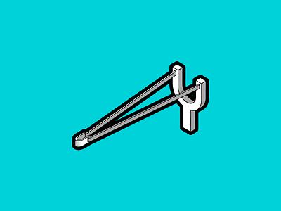 SLING illustration sling slingshot halftone vector inktober2019 inktober
