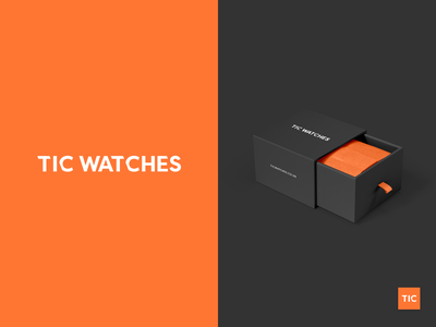 TIC WATCHES watches watch box shop ecommerce watch branding identity logo