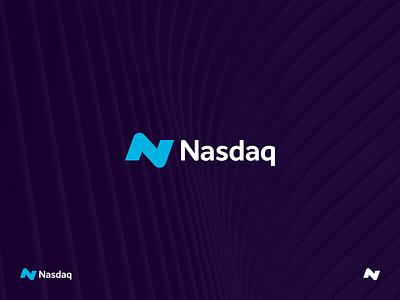 Nasdaq Concept stock market finance stocks nasdaq branding identity logo