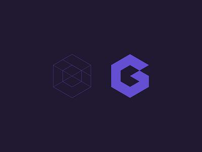 G branding identity geometric hexagon logo minimal simplicity simple