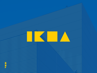 IKEA swedish furniture branding identity refresh rebrand logo geometric modern commerce ikea