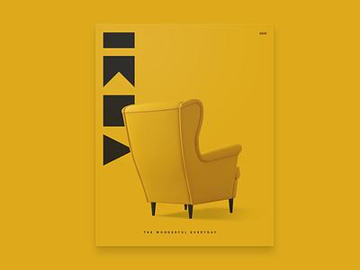 IKEA Cover ikea commerce modern geometric logo rebrand refresh identity catalogue branding furniture swedish