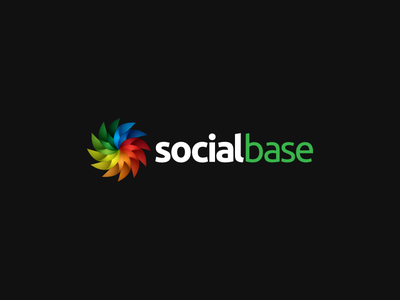 Social Base Logo app icon social links social base logo branding colourful all for one one for all fan spinning connecting connection idea concept sharing ubuntu