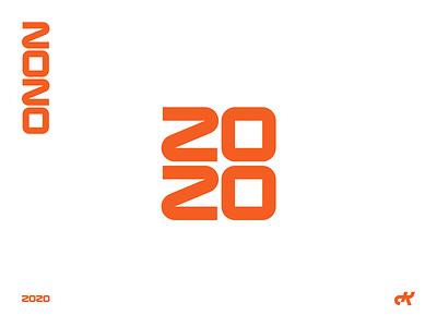 2020 graphic designer freelance designer graphic design new year orange typography 2020 trend 2020