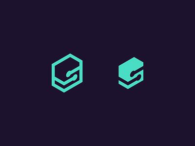 S letter s technology tech identity branding logo design logo