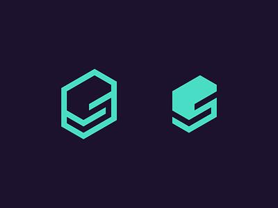 S stack technology tech branding identity letter s logo design logo