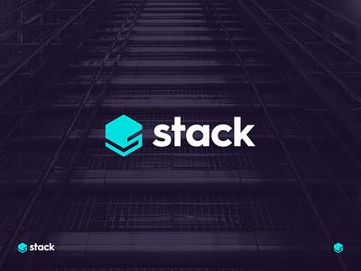 stack identity branding letter s hexagon logo technology technology stack stack tech