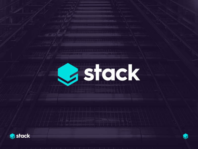 stack identity branding letter s hexagon logo technology technology stack stack tech