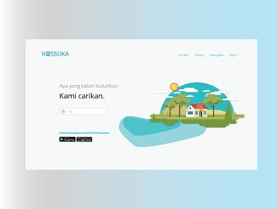 Kossuka web app design ui