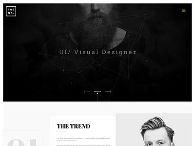 Trend HomePage  creative trending minimal website