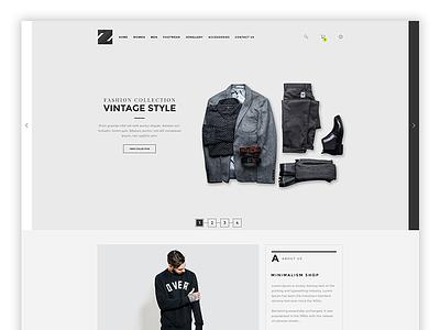 Zeus Homepage Updating website ecommerce minimal