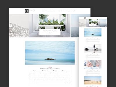 Basic Simple Blog minimal minimalist simple blog