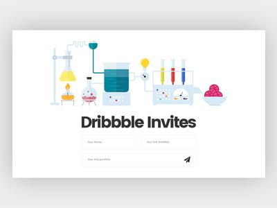Dribbble Invites creative nano shot invite