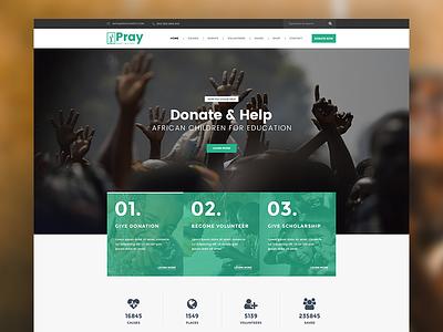 Pray Chrity  theme simple charity