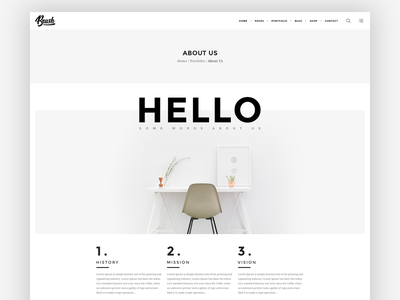 About Us about us about concept creative simple wordpress minimalist trend