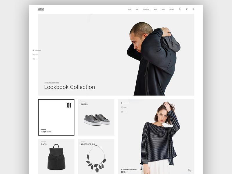 """BETTER"" Minimal Shop logo shop brand wordpress trend simple minimalist creative concept"